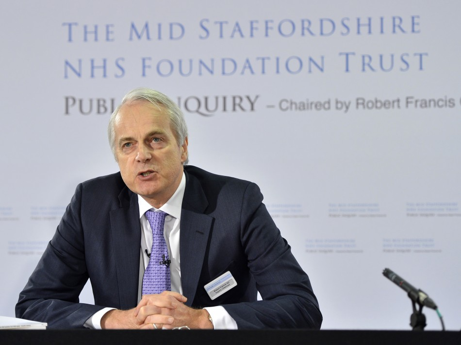 Robert Francis QC presents the publication of his inquiry into the failings at mid-Staffordshire NHS Trust (Reut