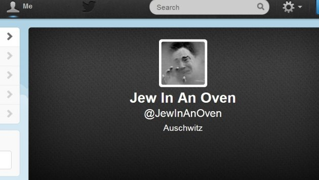 Anti-semitic twitter account
