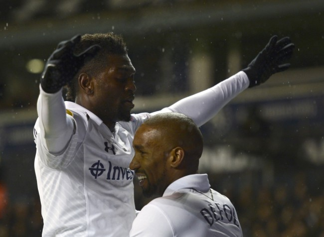 Emmanuel Adebayor and Jermain Defoe