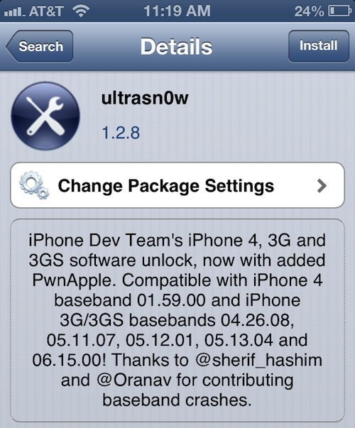Ultrasn0w v1.2.8 Update for iOS 6.1: Supports Unlock for iPhone 4, 3G and 3GS on Select Basebands