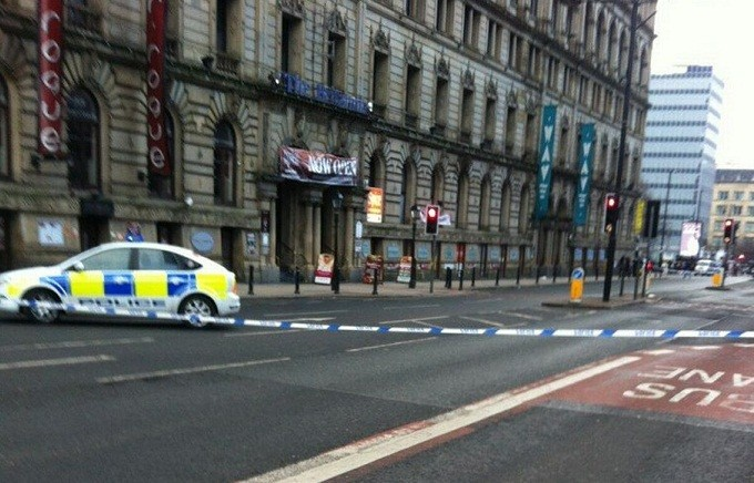 A cordon has been put in place and a number of roads are shut while the incident is dealt with (Twitter/@richardnewport1)