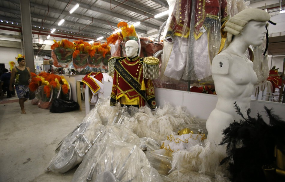 Locals spend months preparing their floats and costumes for the parades (Reuters)