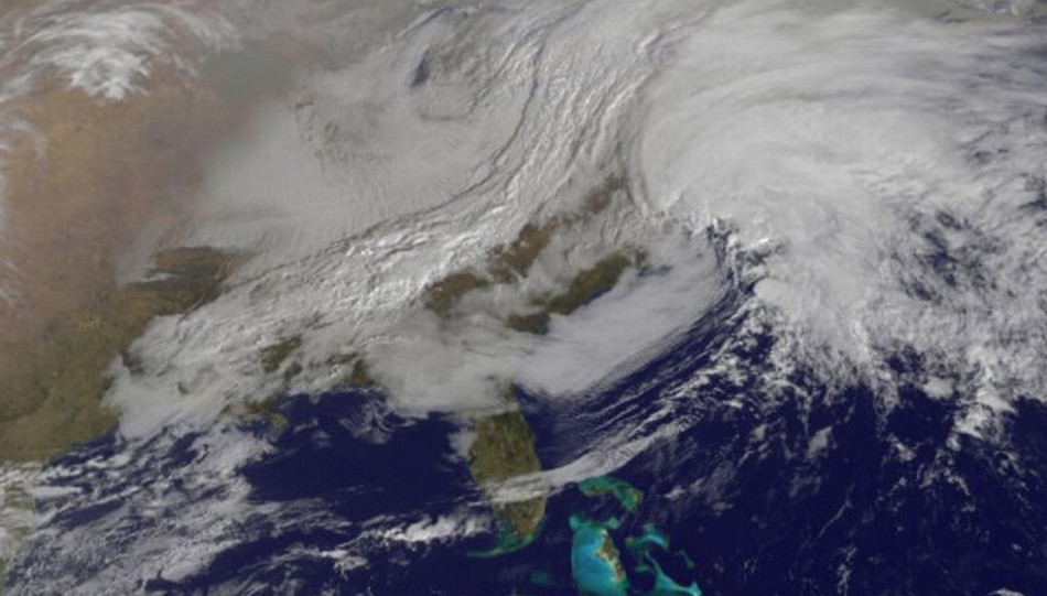 Massive blizzard Nemo from space