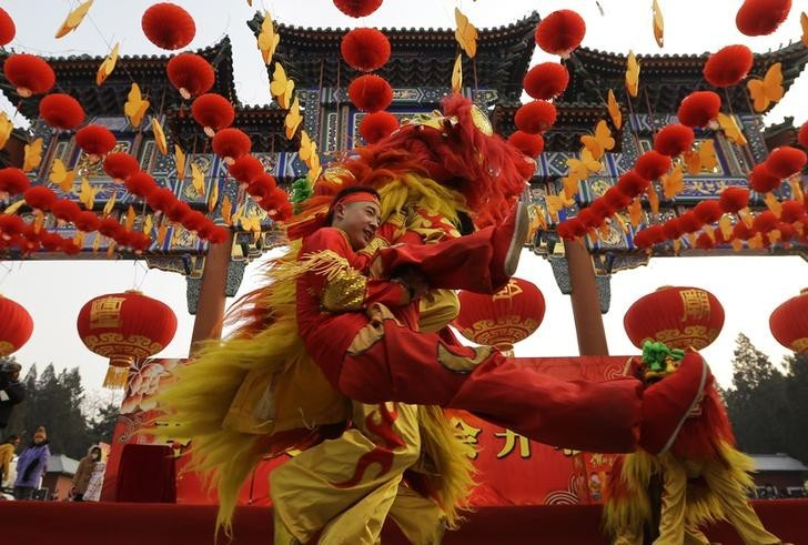 London's Chinatown is putting on its annual festival in the biggest celebration outside of Asia, with fireworks, a lion dance, a firecracker display and musicians
