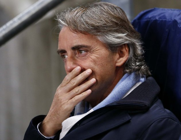 Mancini's title hopes in tatters