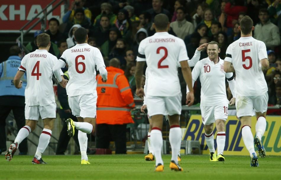 Rooney scored against Brazil