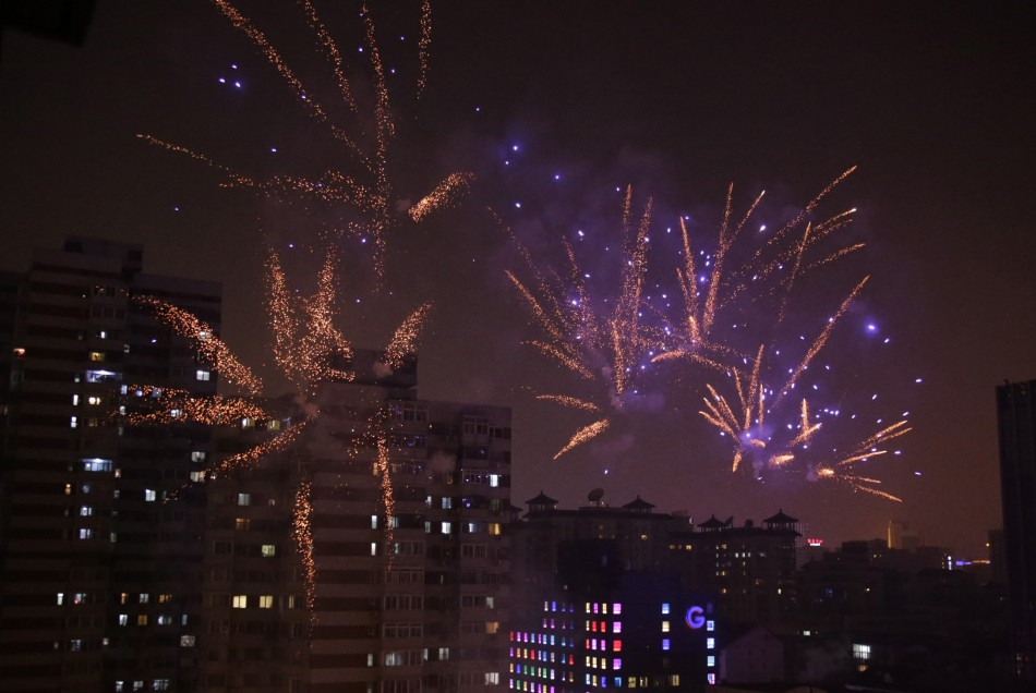 Chinese New Year 2013 Year of Water Snake Welcomed with Fireworks