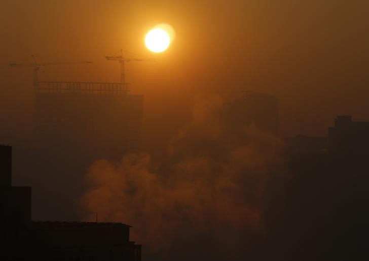 China Pollution Levels Chinese New Year 2013 Masked by Smog PHOTOS