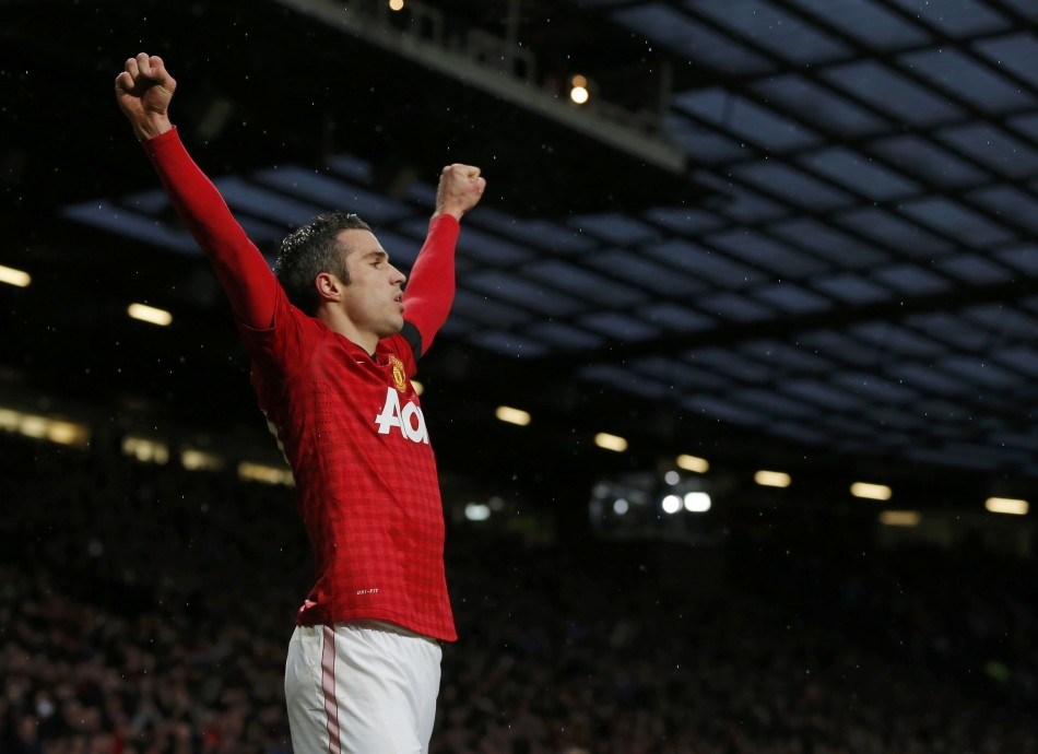 Robin van Persie started and scored against Everton