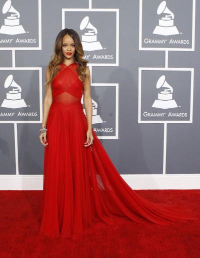 Rihanna at the Grammy Awards