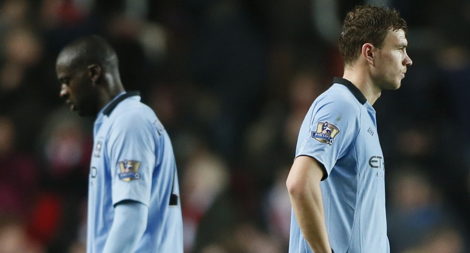 Yaya Toure and Edin Dzeko