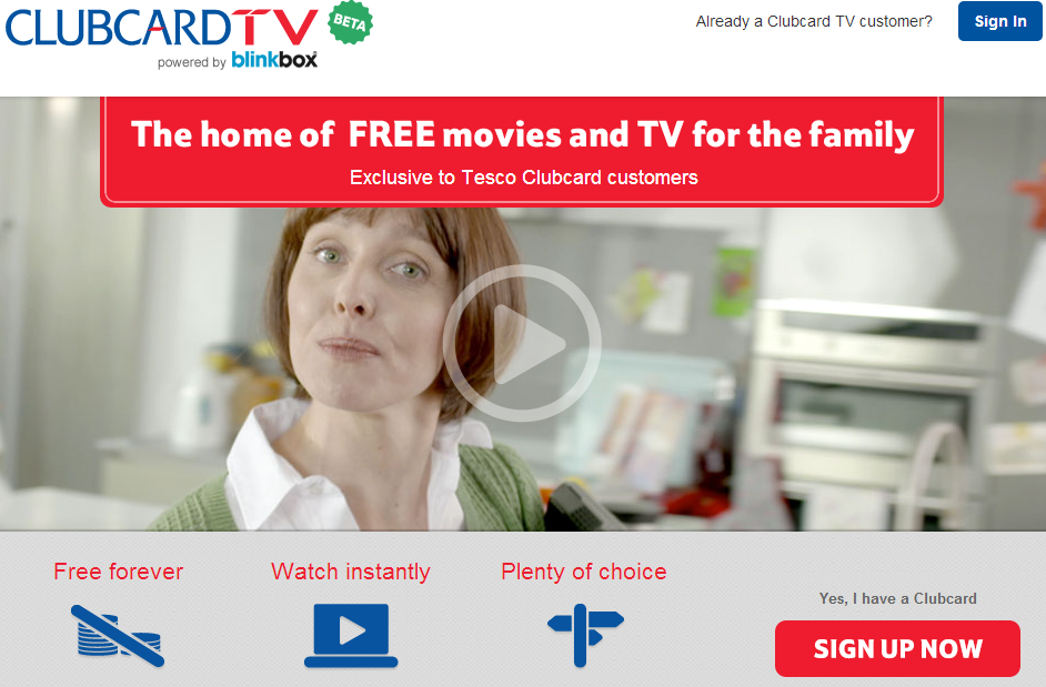 Tesco Clubcard TV
