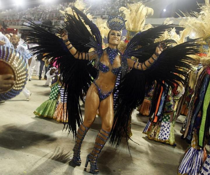 Drum queen Sabrina Sato of the Vila Isabel samba school participates in the annual Carnival parade in Rio de Janeiros Sambadrome February 12, 2013.