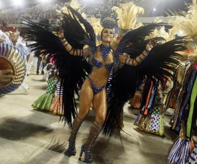 Drum queen Sabrina Sato of the Vila Isabel samba school participates in the annual Carnival parade in Rio de Janeiros Sambadrome February 12, 2013.