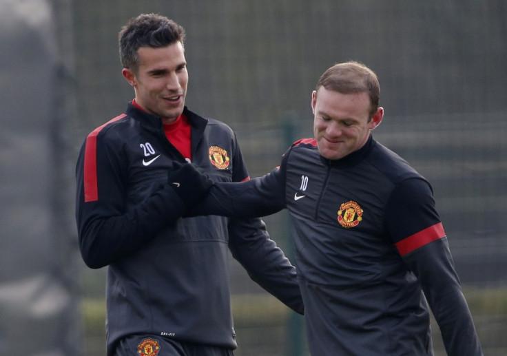 van Persie and Rooney train