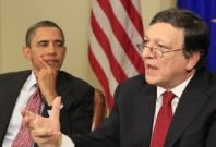 Barack Obama and Jose Manuel Barroso