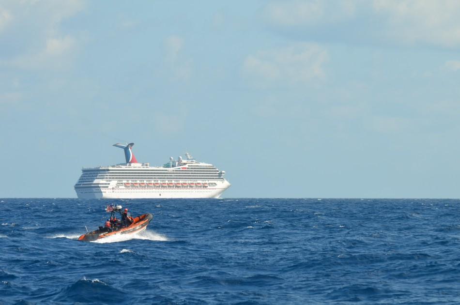 Stricken Carnival Triumph sits in Gulf of Mexico