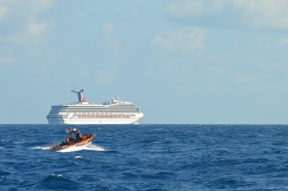 Stricken Carnival Triumph sits in Gulf of Mexico