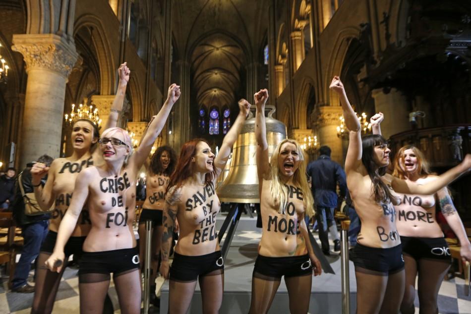 Femen at Notre Dame