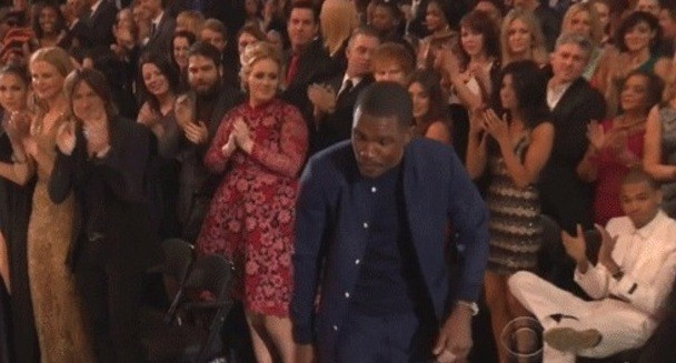 Adele and Chris Brown