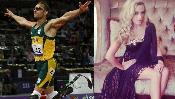Oscar Pistorius and his girlfriend Reeva Steenkamp