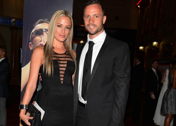 Dream couple: But now Pistorius stands accused of mudering Steenkamp