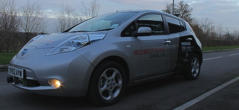 RobotCar UK self driving car