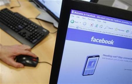 facebook computer screen
