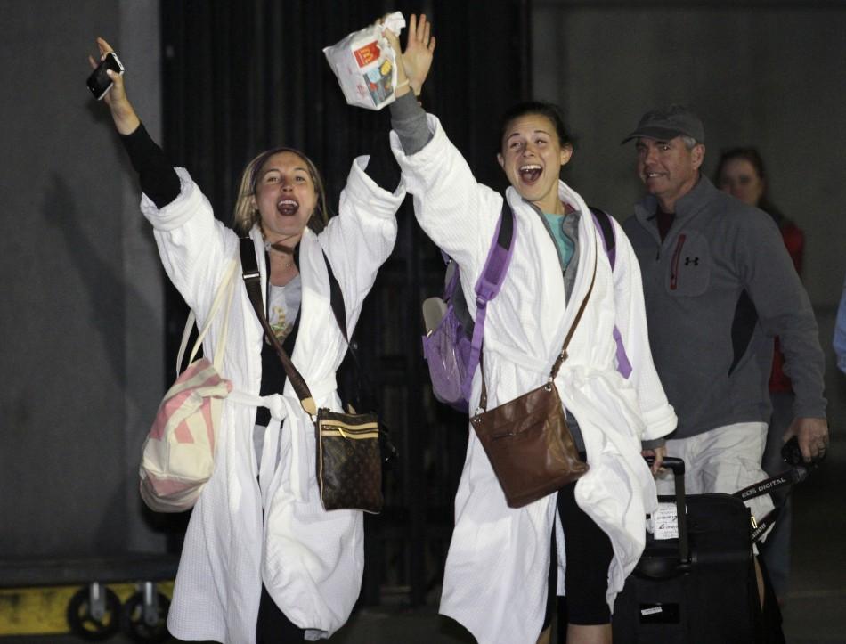 Pair's joy at finally escaping Carnival Triumph