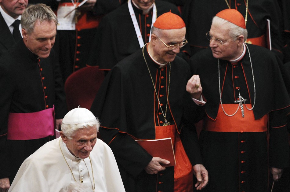 Benedict XVI and Tarcisio Bertone
