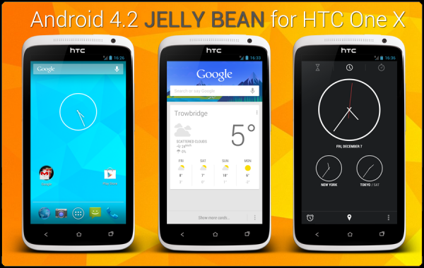 HTC One X Gets Android 4.2.2 Jelly Bean Update with AOSP ROM [How to Install]