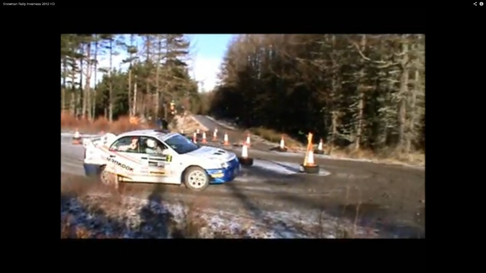 Action from the Snowman Rally where two spectators have been injured following a crash