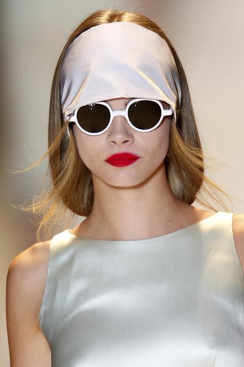 Brit model Cara Delevingne, walked the runway for Sibling in London, jetting in from New York Fashion Week