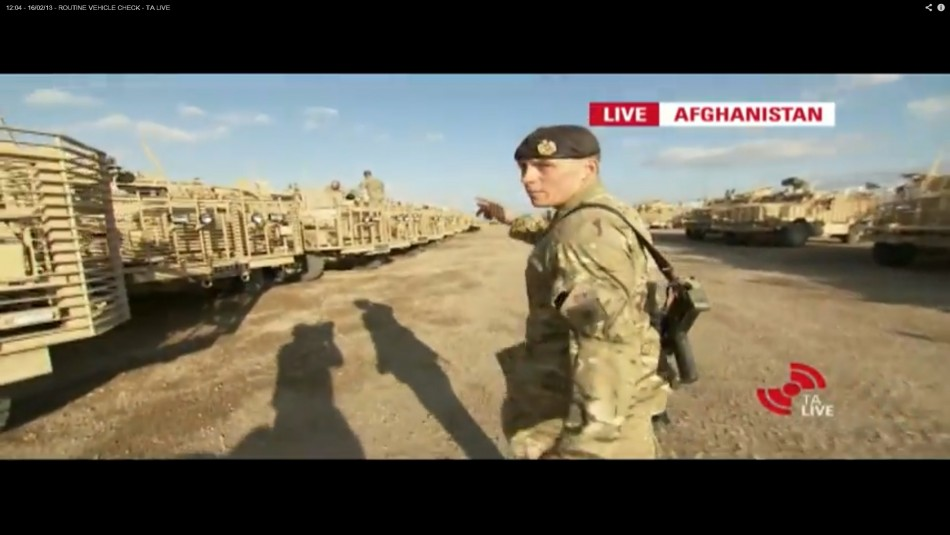 Clip from the TA's live advert from the combat zone in Afghanistan.