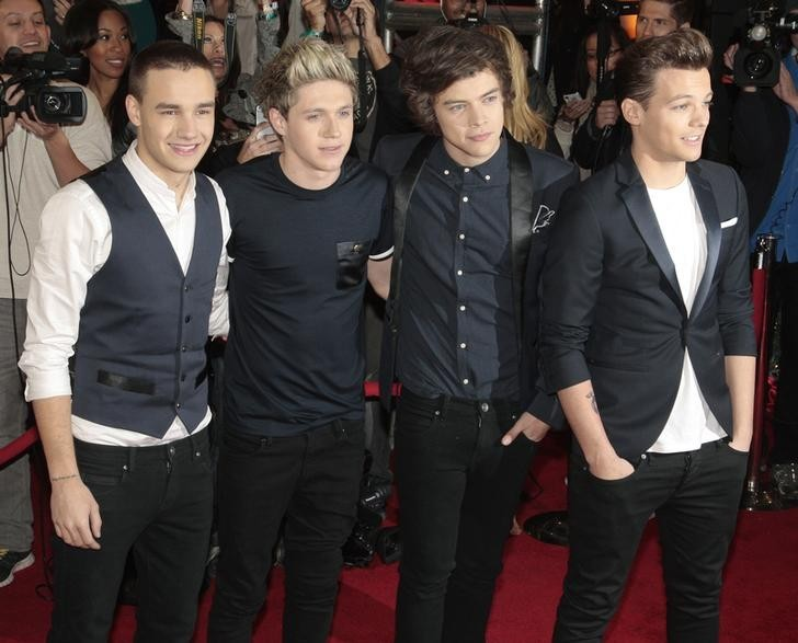 Members of the band One Direction (L-R), Liam Payne, Niall Horan, Harry Styles and Louis Tomlinson