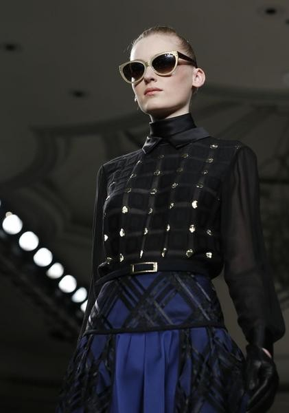 A model presents a creation from the Temperley AutumnWinter 2013 collection during London Fashion Week February 17, 2013.