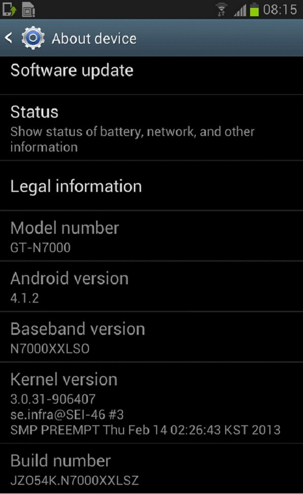 Galaxy Note N7000 Receives Official Android 4 1 2 XXLSZ Jelly Bean