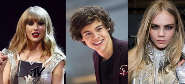 Taylor Swift, Harry Styles and Cara Delevingne