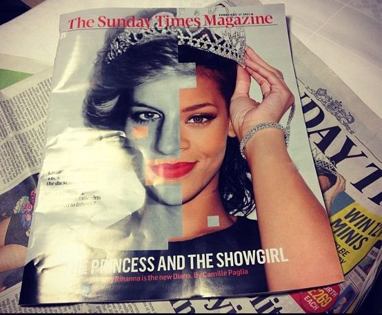 Rihanna reacts to the cover of the Sunday Times magazine, where she is compared to Princess Diana