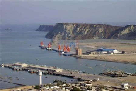 A general view of Pakistan's Gwadar deep-sea port on the Arabian Sea