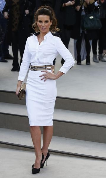 Actress Kate Beckinsale arrives for the Burberry Prorsum Womenswear AutumnWinter 2013 Show in Hyde Park during London Fashion Week February 18, 2013.