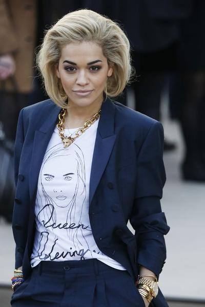 Singer Rita Ora arrives for the Burberry Prorsum Womenswear AutumnWinter 2013 Show in Hyde Park during London Fashion Week February 18, 2013
