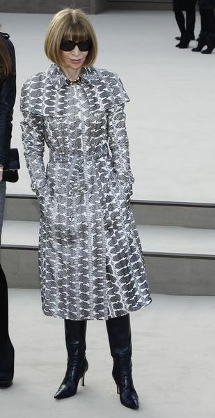 Editor of U.S. Vogue, Anna Wintour arrives for the Burberry Prorsum Womenswear AutumnWinter 2013 Show in Hyde Park during London Fashion Week February 18, 2013.