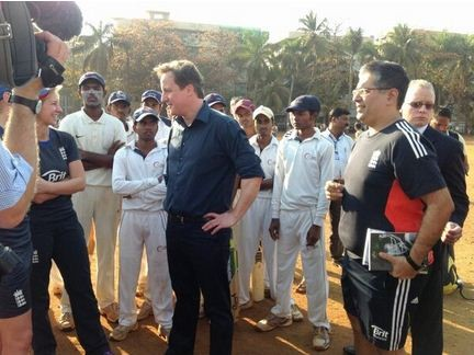 David Cameron at the Global Cricket School