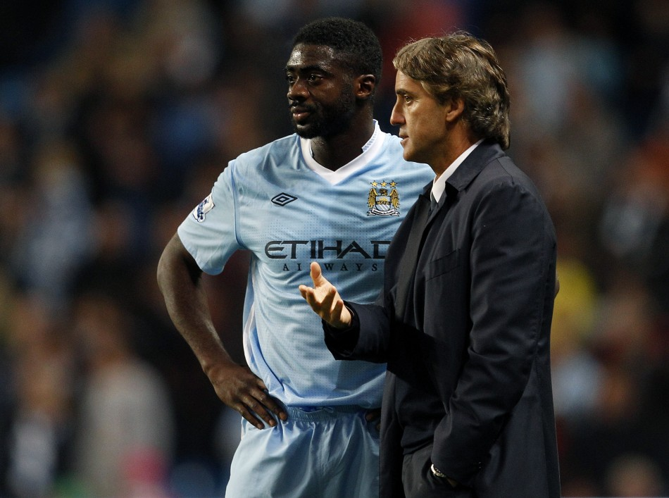 Kolo Toure and Roberto Mancini