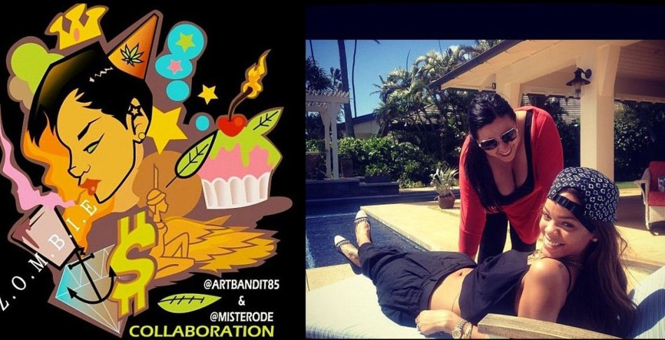 Rihanna starts her Birthday celebrations poolside