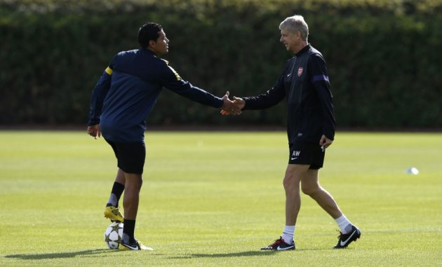 Andre Santos and Arsene Wenger