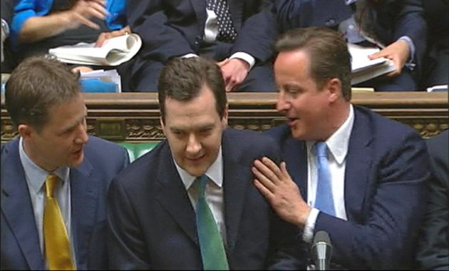 David Cameron, Nick Clegg and George Osborne