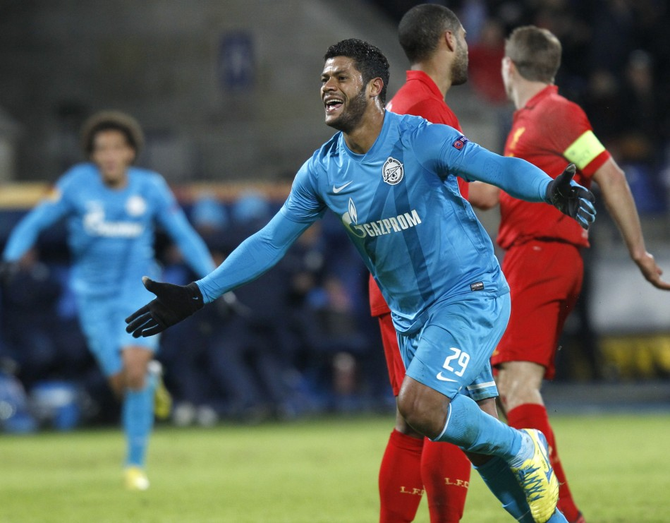 Zenit St Petersburg Striker Hulk