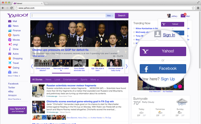 Yahoo updates home page